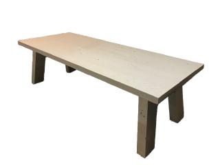 Eettafel massief eiken wit